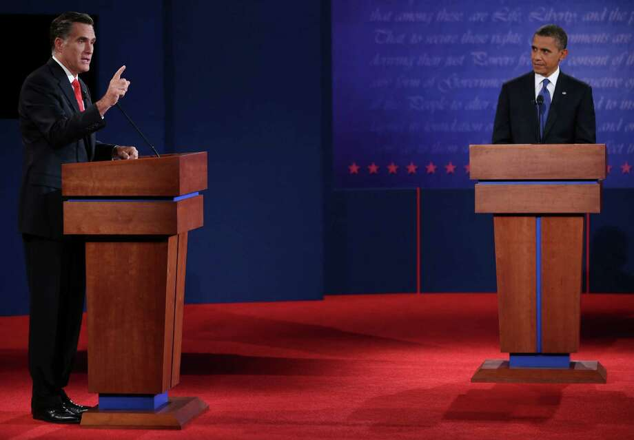 Mitt Romney and President Barack Obama butted heads on many topics in Wednesday's presidential debate, including energy. Photo: Chip Somodevilla / 2012 Getty Images