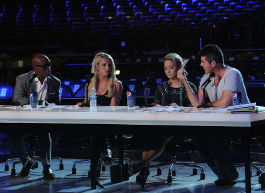 "THE X FACTOR: L-R:  L.A. Reid, Britney Spears, Demi Lovato and Simon Cowell make the first cuts on ""Boot Camp"" in Miami, FL, on an all-new episode of THE X FACTOR airing Wednesday, Oct. 3 (8:00-9:00PM ET/PT) on FOX. CR: Ray Mickshaw/ FOX"