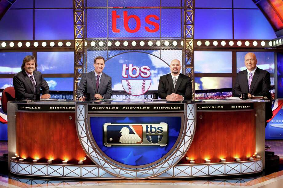 10/4/11 TBS  MLB studio team on set photos Matt Winer, Dennis Eckersley, Cal Ripken and David Wells  Ph: Jeremy  Freeman Photo: Jeremy Freeman/TBS / © 2011 Turner Broadcasting System, Inc. A Time Warner Company. All Rights Reserved