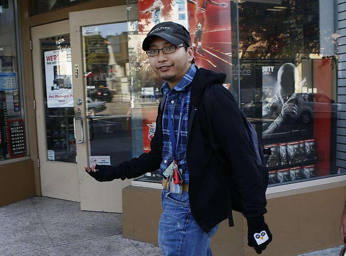 Guido Abenes on Shattuck Ave. heading to Peet's coffee in Berkeley, Calif., on Thursday, September 27, 2012.