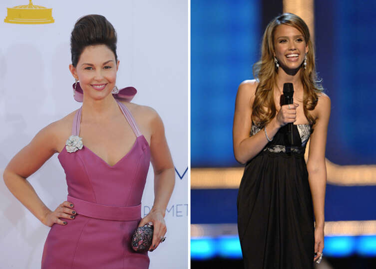 The real Ashley Judd and Jessica Alba.