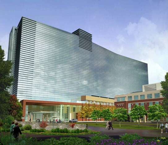 Artist rendering of the proposed front entrance of the new Stamford Hospital. Photo: Contributed Photo