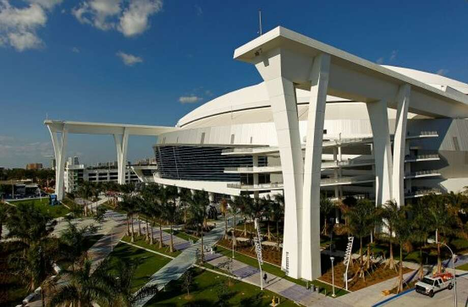 27. Marlins Park, home of the Miami Marlins. Homes cost $105 per square foot, 0.62 times the area average. Photo: Getty Images