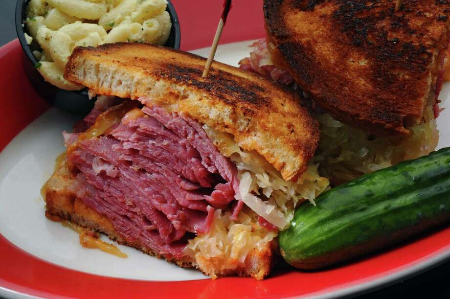 A corned beef Reuben at Nosh NY Delicatessen on Tuesday Oct. 2, 2012 in Guilderland, NY. (Philip Kamrass / Times Union) Photo: Philip Kamrass / 00019507A
