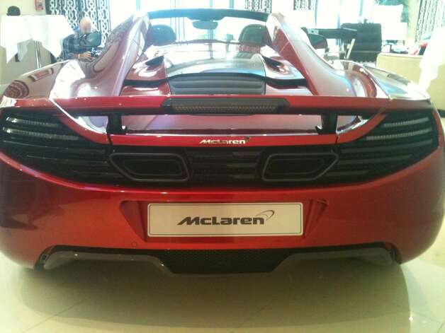 The McLaren 12C Spider was unveiled at the Houston Motor Club as part of a national tour. Photo: Robert Stanton