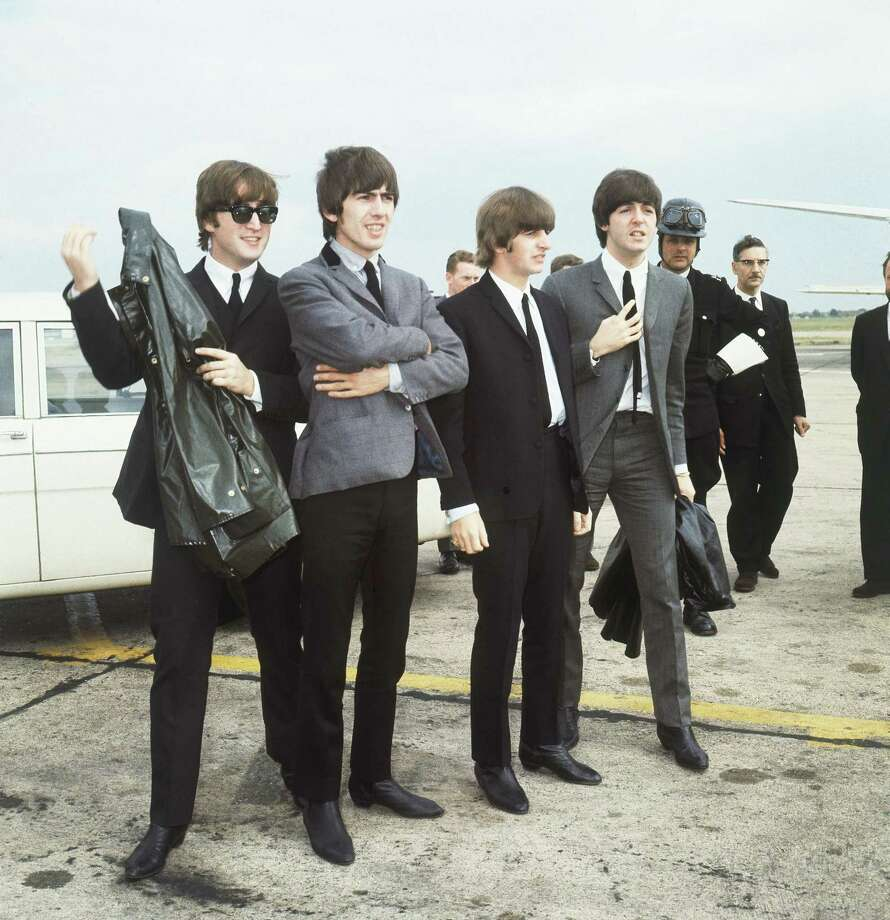 In 1964, the Beatles prepare to hit the road for New York. Photo: AP