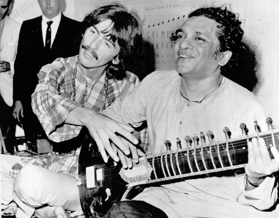 By 1967 and the Summer of Love, Beatle George Harrison had become a student of musical mentor Ravi Shankar of India, a sitar virtuoso. Photo: ASSOCIATED PRESS / Associated Press