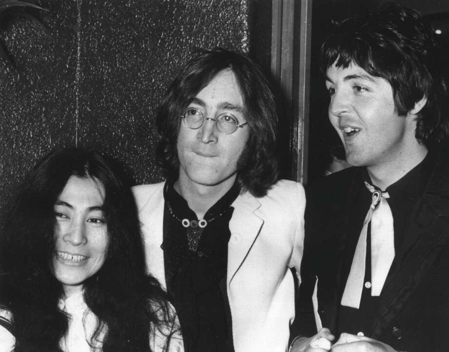 Tension among the band members grows as John Lennon becomes increasingly infatuated with avant-garde artist Yoko Ono, left. Photo: PETER KEMP, ASSOCIATED PRESS / Associated Press
