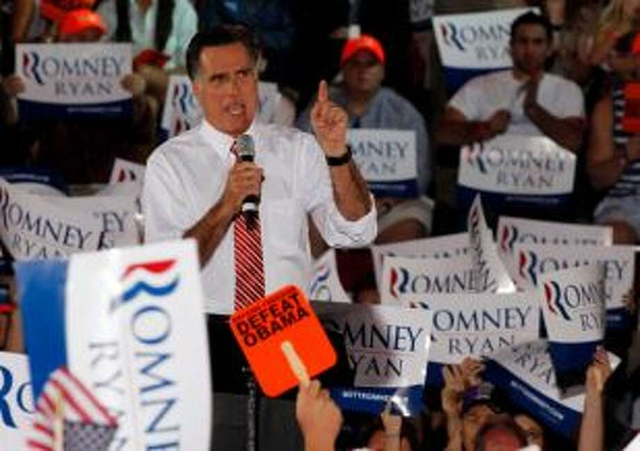 Republican presidential candidate Mitt Romney, gestures during a rally in Fishersville, Va., Thursday, Oct. 4, 2012. (AP)