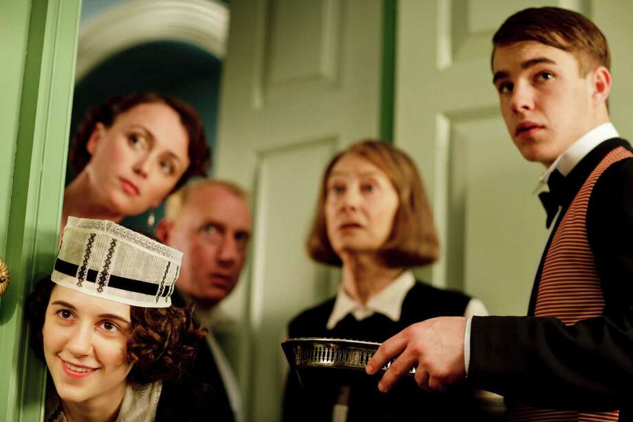 The saga continues at 165 Eaton Place with new characters upstairs and down. Shown, from left, are Ivy Morris (Ellie Kendrick), Lady Agnes Holland (Keeley Hawes), Mr. Pritchard (Adrian Scarborough), Rose Buck (Jean Marsh) and Johnny Proude (Nico Mirallegro). Photo: Nick Briggs