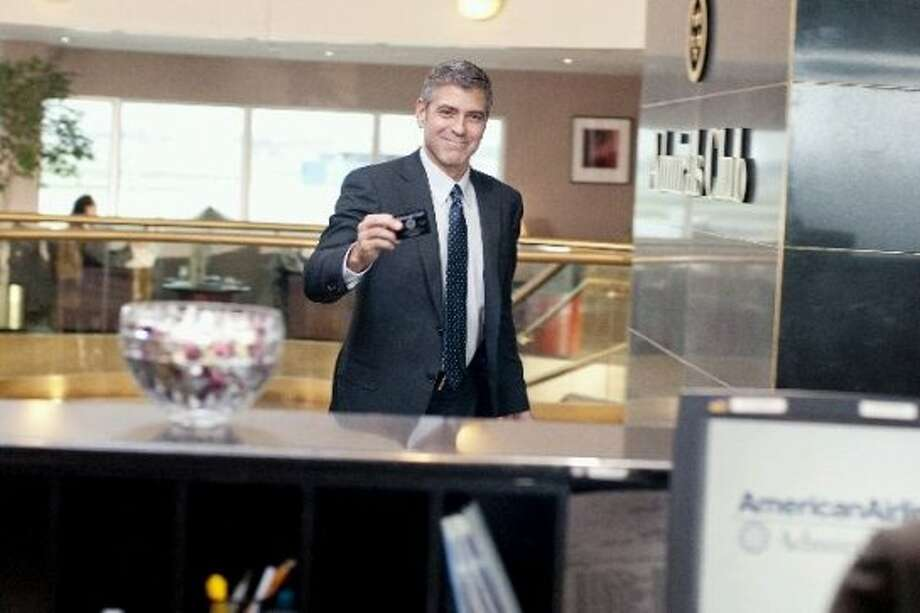 "George Clooney in ""Up in the Air.""  I threw this on, based on Clooney's performance and also the film's documenting of the great recession. (Paramount)"