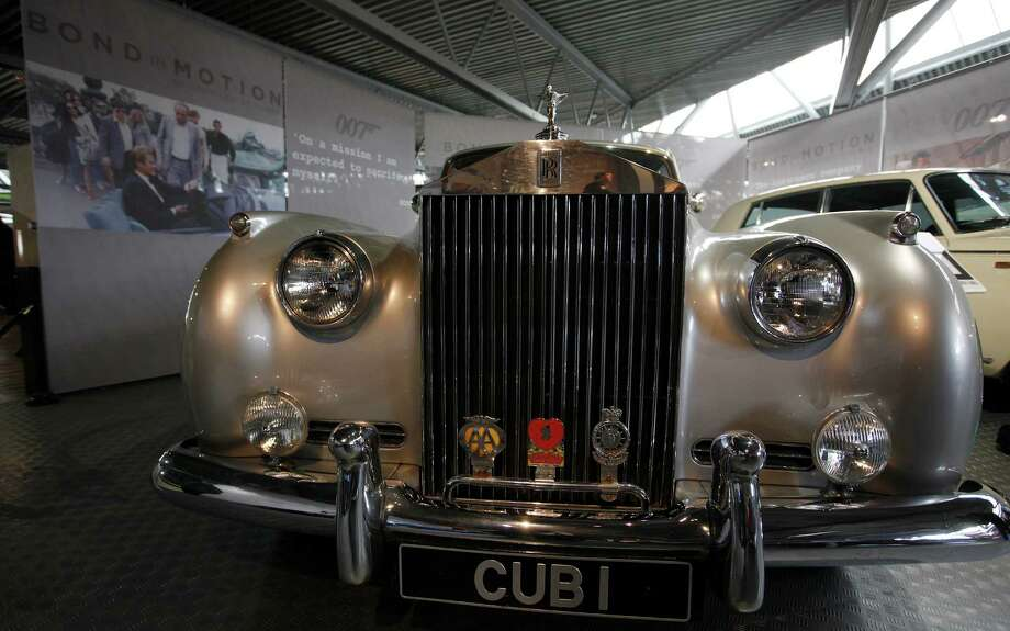 A Rolls Royce Silver Cloud II which featured in the James Bond movie 'View to a Kill' is seen at the opening of the 'Bond in Motion 50 vehicles in 50 years' exhibition at the National Motor Museum in Beailieu, near Southampton, England Sunday, Jan. 15, 2012. (AP Photo/Alastair Grant) Photo: Alastair Grant, ASSOCIATED PRESS / AP2012