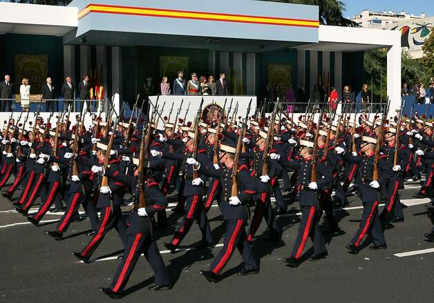 Since Spain's Armed Forces Day coincides with its National Day on Oct. 12, military parades are a common commemoration. The 2012 holiday is also the 530th anniversary of Christopher Columbus' sighting of the New World. Photo: Tourist Office Of Spain