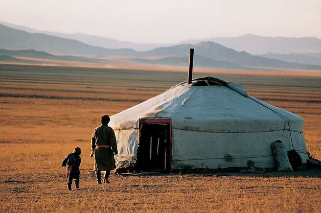 Visit nomadic families near Lake Son-Kul in Kyrgyzstan and learn how to set a yurt up on a new tour for 2013 offered by MIR Corp. Photo: Courtesy MIR Corp.