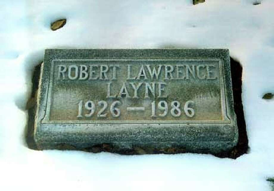 Football star Bobby Layne's grave at the primary cemetery in Lubbock, Texas.