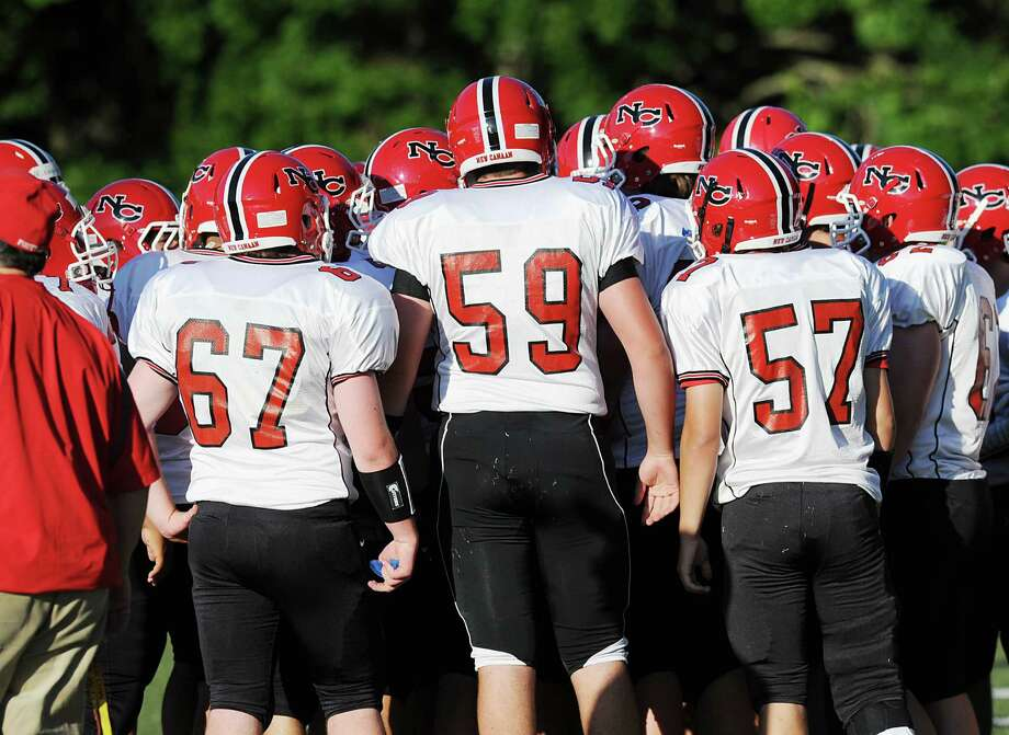 10 New Canaan football players have been suspended from tonight's game for violation of team rules. June 15, 2012. Photo: Bob Luckey / Greenwich Time