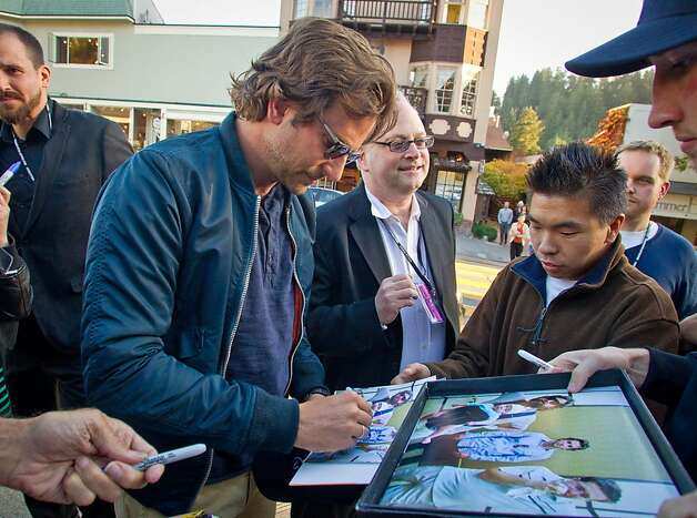 "Actor Bradley Cooper signs autographs at the Mill Valley Film Festival, where his drama ""Silver Linings Playbook"" was screened on opening night. Photo: John Storey, Special To The Chronicle"