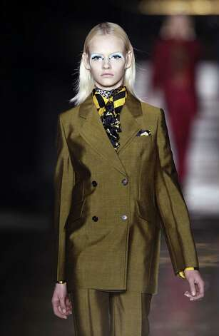 A model presents a creation by Italian designer Miuccia Prada during the Miu Miu Fall/Winter 2012-2013 ready-to-wear collection show, on March 7, 2012 in Paris. AFP PHOTO/ALEXANDER KLEIN Photo: ALEXANDER KLEIN, AFP/Getty Images / 2012 AFP