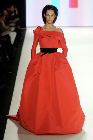 NEW YORK, NY - FEBRUARY 13:  A model walks the runway at the Carolina Herrera Fall 2012 fashion show during Mercedes-Benz Fashion Week at Lincoln Center on February 13, 2012 in New York City. Photo: Frazer Harrison, Getty Images  For Mercedes-Benz / 2012 Getty Images