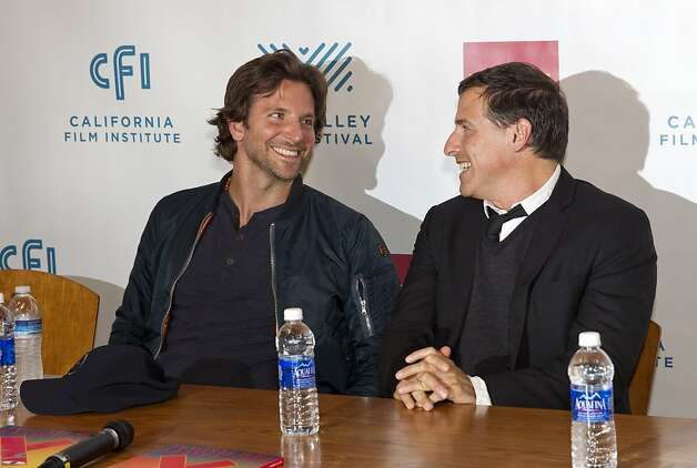 "Actor Bradley Cooper (left) and director David O. Russell attend a press conference during opening night of the Mill Valley Film Festival in Mill Valley, Calf., on Thursday, October 4, 2012.  Bradley starred Russell's film ""Silver Linings Playbook,"" which was one of the films being shown on opening night. Photo: Laura Morton, Special To The Chronicle"