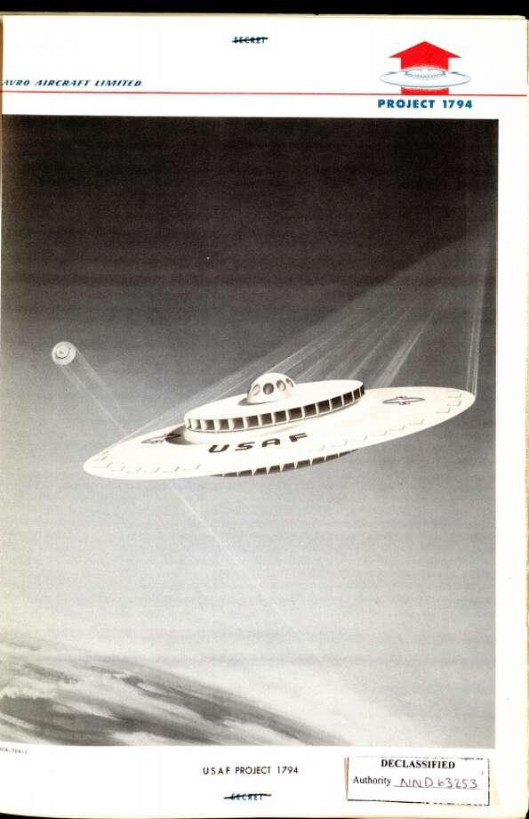 An image from U.S. Air Force Project 1794, to build a flying saucer. Photo: National Archives