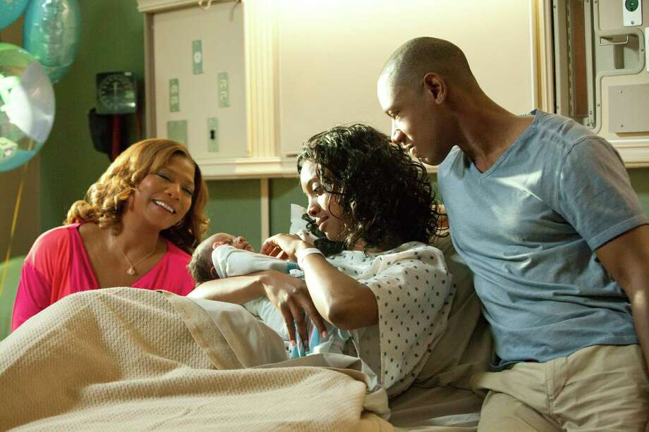 "This undated image released by Lifetime shows Queen Latifah as M'Lynn, from left, Condola Rashad as Shelby and Tory Kittles as Jackson in a scene from the Lifetime Original Movie, ""Steel Magnolias,"" premiering Sunday, Oct. 7, at 9pm on Lifetime.  (AP Photo/Lifetime, Annette Brown) Photo: Annette Brown"