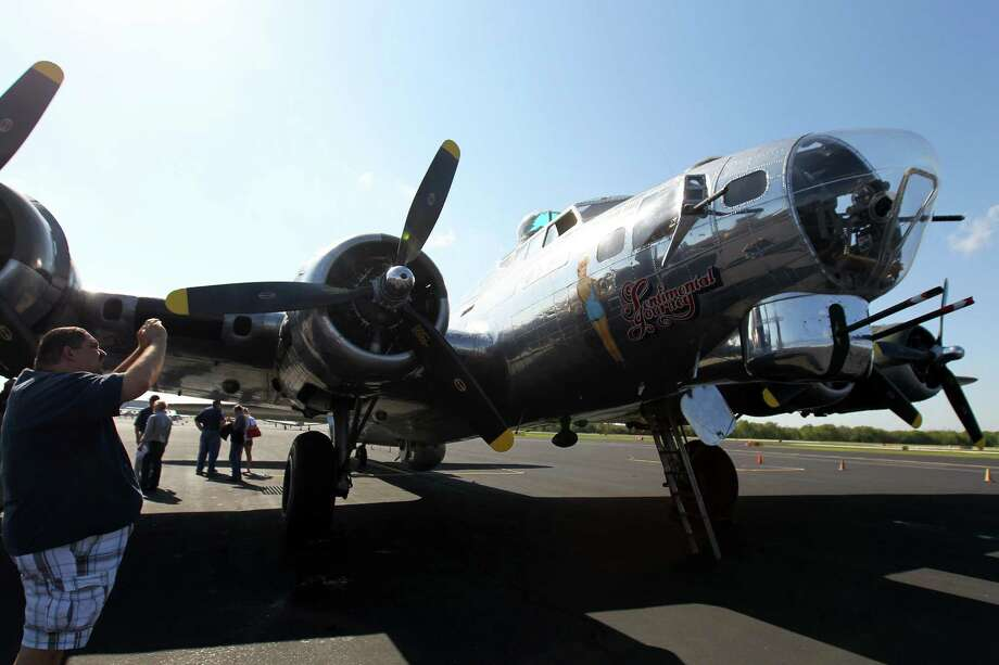 "The WWII B-17G bomber ""Sentimental Journey"" visited Stinson Municipal Airport, Friday, October 5, 2012.  There are only 5 B-17 Flying Fortresses still flying in the world, this one is maintained by the Commemorative Air Force Arizona Wing Aviation Museum in Mesa, Arizona. Photo: JENNIFER WHITNEY / © Jennifer Whitney"