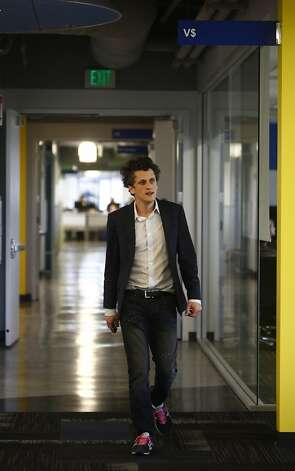Aaron Levie walks through the Los Altos headquarters of Box, which the company is rapidly outgrowing. It has opened a London outpost and will have a San Francisco site late this year. Photo: Lea Suzuki, The Chronicle