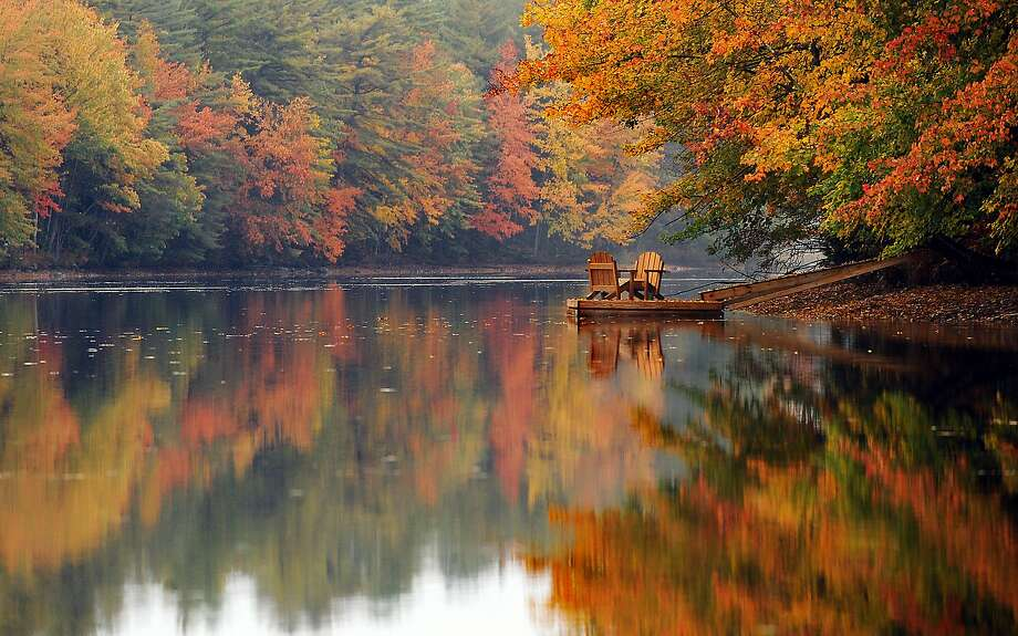 I miss Clint: Two empty chairs sit on a dock along the Androscoggin River in Turner, Maine. Photo: Amber Waterman, Associated Press