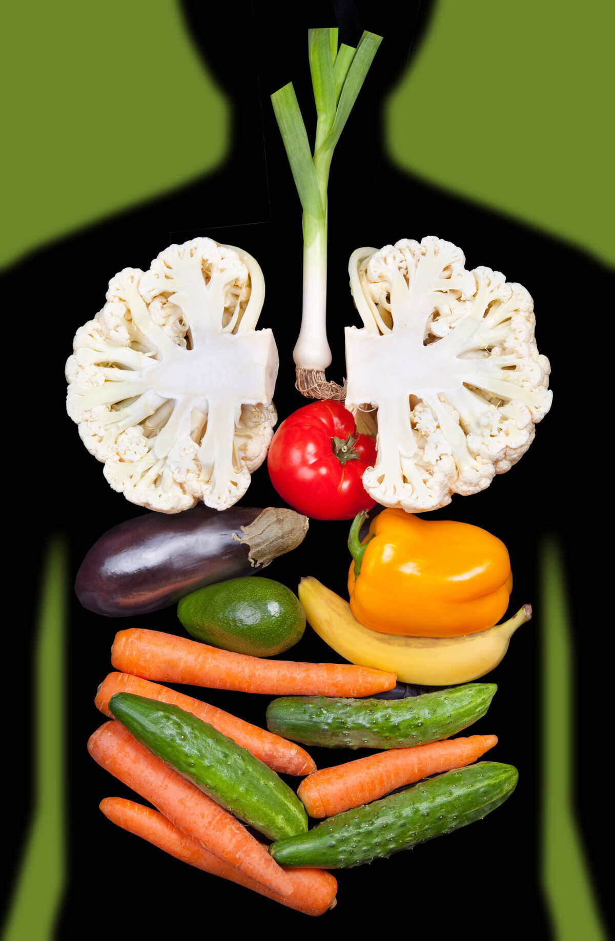 Vegetarian photoillustration Fotolia