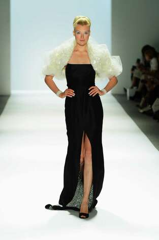 A models walks the runway in a Zang Toi design during New York Fashion Week. Photo: Frazer Harrison, Getty Images / 2012 Getty Images