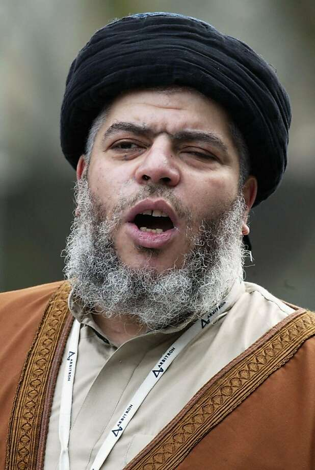 Cleric Abu Hamza al-Masri has been in a British jail since 2004. Photo: Hugo Philpott, Getty Images