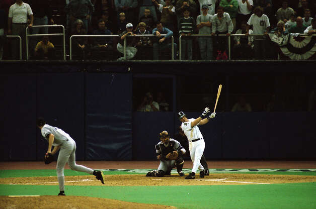 This image was taken during The Double – Edgar Martinez's hit that put the Mariners