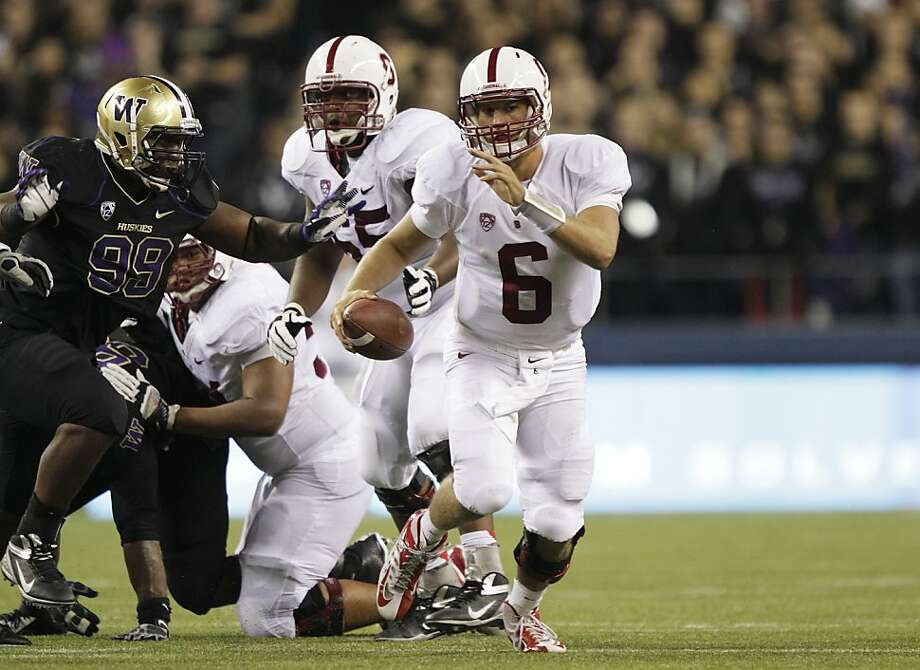 Quarterback Josh Nunes is coming off the worst game of his brief career Sept. 27 against Washington, when Stanford was held without an offensive TD. Photo: Ted S. Warren, Associated Press