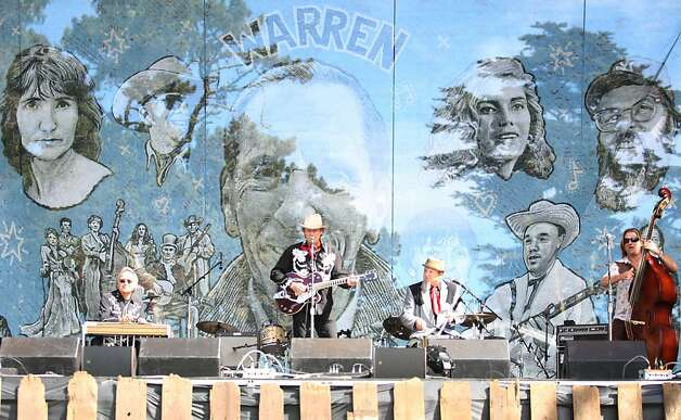 Chuck Mead & His Grassy Knoll Boys rock the Banjo Stage Friday afternoon to kick off Hardly Strictly Bluegrass in Golden Gate Park on October 5, 2012. Friday marks day one of the three day event. Photo: Luanne Dietz, The Chronicle