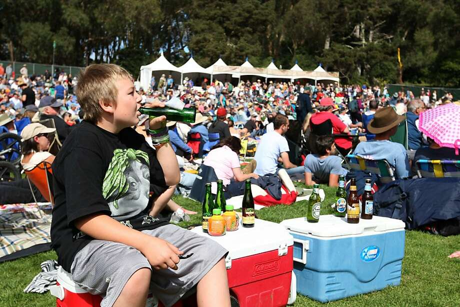 Ole Spee, 12, enjoys the first day of Hardly Strictly Bluegrass with his family. He said this is his second festival and he loves to listen to all the music. Photo: Luanne Dietz, The Chronicle
