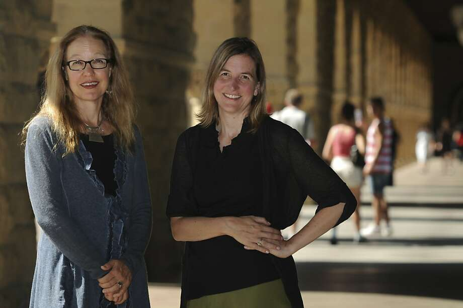Dr. Maren Grainger-Monsen (left) and Nicole Newham collaborated on the film, initially intended for doctors and medical students. Photo: Erik Verduzco, Special To The Chronicle