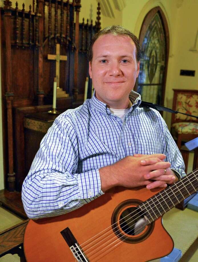 Doug Esmond, Music Coordinator at First United Methodist Church in Delmar Tuesday Sept. 25, 2012.  (John Carl D'Annibale / Times Union) Photo: John Carl D'Annibale / 00019398A