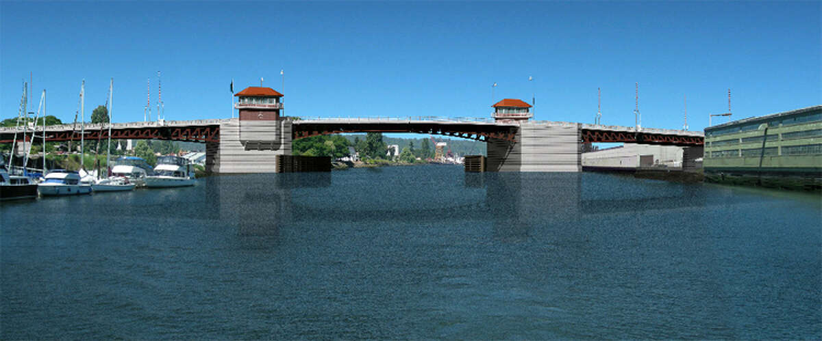 Artist's rendering of what the new South Park Bridge will look like.