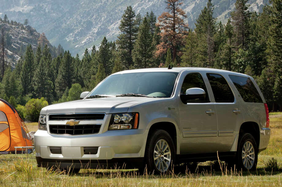 For those who need a rugged vehicle capable of hauling lots of cargo (up to 108.9 cubic feet), up to nine people and/or towing up to 8,500 pounds, the Chevrolet Tahoe is a great choice. Photo: GENERAL MOTORS / License Agreement - Please read the following important information pertaining to this image. This GM image is protected by copy