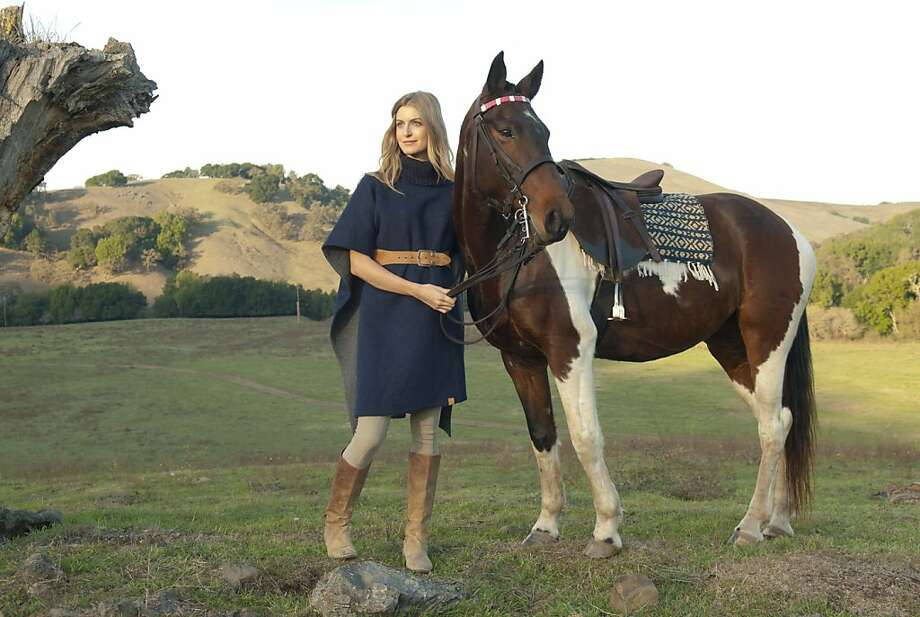 Another look from Elizabeth Goodwin Welborn's Stick & Ball clothing line, modeled by Hilary Shaw and Buford. Photo: Kaarin Svendson