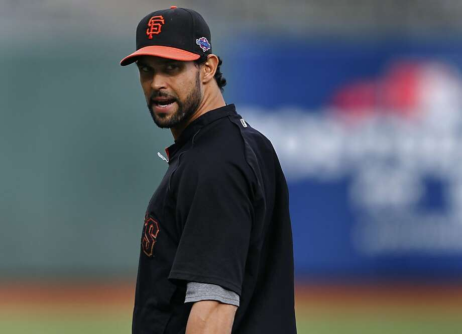 "Angel Pagan will be making his first postseason appearance and says, ""I can't tell you if I'm going to have butterflies or not."" Photo: Paul Chinn, The Chronicle"