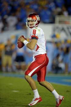 Houston quarterback David Piland passes during the first half of their NCAA college football game against UCLA, Saturday, Sept. 15, 2012, in Pasadena, Calif.  (AP Photo/Mark J. Terrill) Photo: Mark J. Terrill / AP