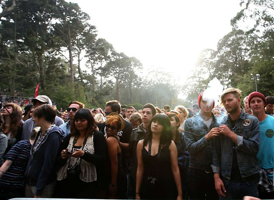 Fans enjoy the live show experience as Jenny Lewis  and her band perform Friday afternoon, October 5, 2012 at Hardly Strictly Bluegrass in Golden Gate Park. Photo: Luanne Dietz, The Chronicle