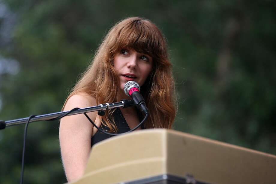 Jenny Lewis performs before a packed crowd Friday afternoon, October 5, 2012 at Hardly Strictly Bluegrass in Golden Gate Park. Photo: Luanne Dietz, The Chronicle