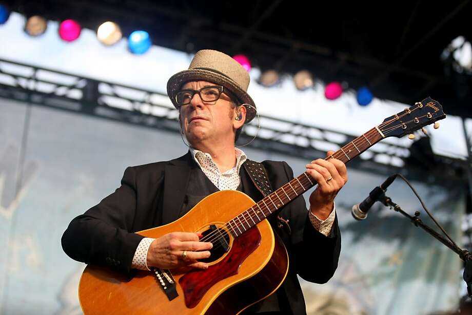 Elvis Costello performs the last show of the night to wrap up the first day of Hardly Strictly Bluegrass on October 5, 2012 in Golden Gate Park. Photo: Luanne Dietz, The Chronicle