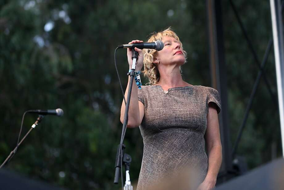 Sally Timms performs with John Langford and His Sadies Friday evening in Golden Gate Park at Hardly Strictly Bluegrass. Photo: Luanne Dietz, The Chronicle