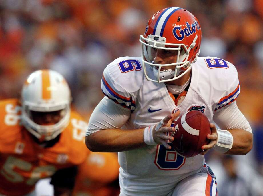 Florida QB Jeff Driskel has shown improvement each week. Photo: Wade Payne / FR23601 AP