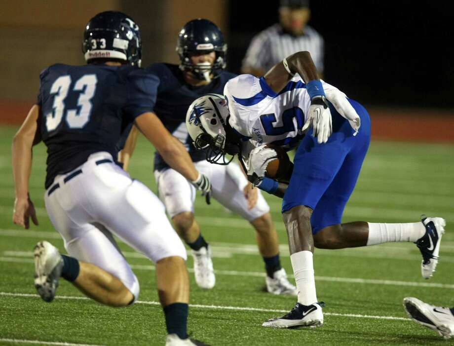 Dekaney 41, Kingwood 35Dekaney wide receiver Richardo Barnett (85) brings down a reception against Kingwood during the third quarter of a high school football game at Turner Stadium on Friday, Oct. 5, 2012, in Humble. Photo: J. Patric Schneider, For The Chronicle / © 2012 Houston Chronicle
