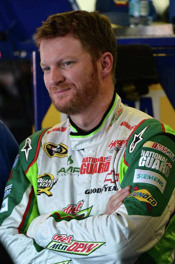 Dale Earnhardt Jr.  attends practice for the NASCAR Sprint Cup Series auto race at Talladega Superspeedway, Friday, Oct. 5, 2012, in Talladega, Ala. (AP Photo/Autostock, Brian Czobat) MANDATORY CREDIT Photo: Brian Czobat
